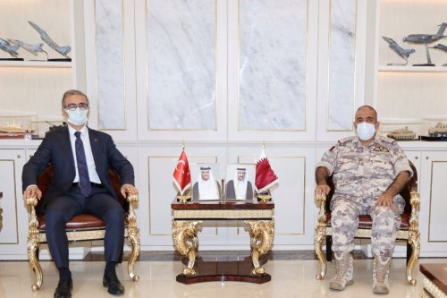 Chief of Staff of Qatari Armed Forces met with President of Defense Industries of the Republic of Turkey, on 23 April 2021, in Qatar [QNAEnglish/Twitter]