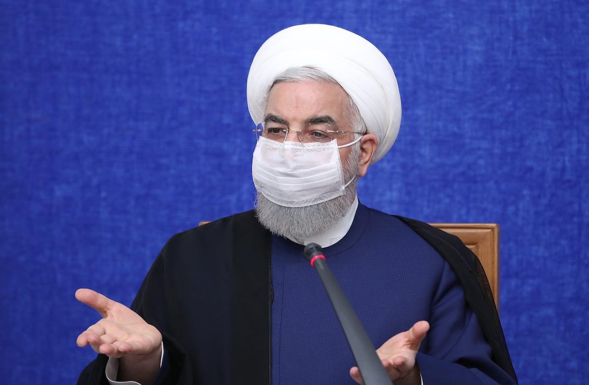 Iranian President Hassan Rouhani in Tehran, Iran on 23 May 2021 [Iranian Presidency/Anadolu Agency]