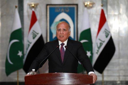 Iraqi Foreign Minister Fuad Hussein in Baghdad, Iraq on 29 May 2021 [Murtadha Al-Sudani/Anadolu Agency]