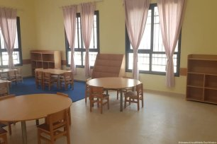A school set up by the American Near East Refugee Aid (ANERA) created to help Palestinian refugees [Sulieman Mleahat]