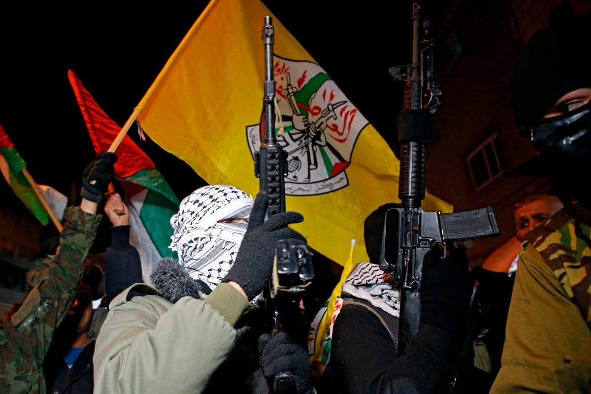 Fatah's Al-Aqsa Martyrs' Brigades in the West Bank on 8 December 2017 [HAZEM BADER/AFP/Getty Images]