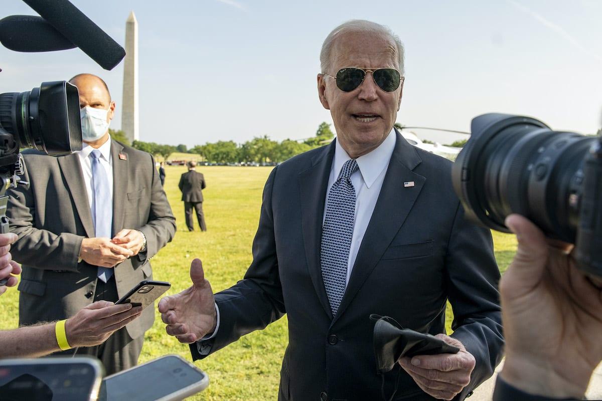 US President Joe Biden seen in Washington D.C. US, on May 25, 2021 [Tasos Katopodis/UPI/Bloomberg via Getty Images]