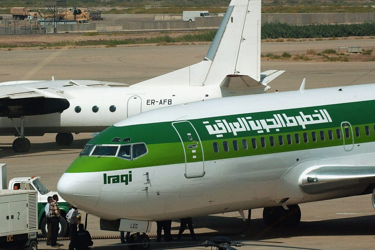 BAGHDAD, IRAQ - SEPTEMBER 18: An Iraqi Airways Boeing 737 sits on the tarmac at Baghdad International Airport September 18, 2004 Baghdad, Iraq. National carrier Iraqi Airways launched its first international flight in 14 years since U.N. sanctions were imposed on Saddam Hussein. Iraqi Airways is said to be launching scheduled flights to neighbouring Syria and Jordan twice a week. (Photo by Wathiq Khuzaie/Getty Images)