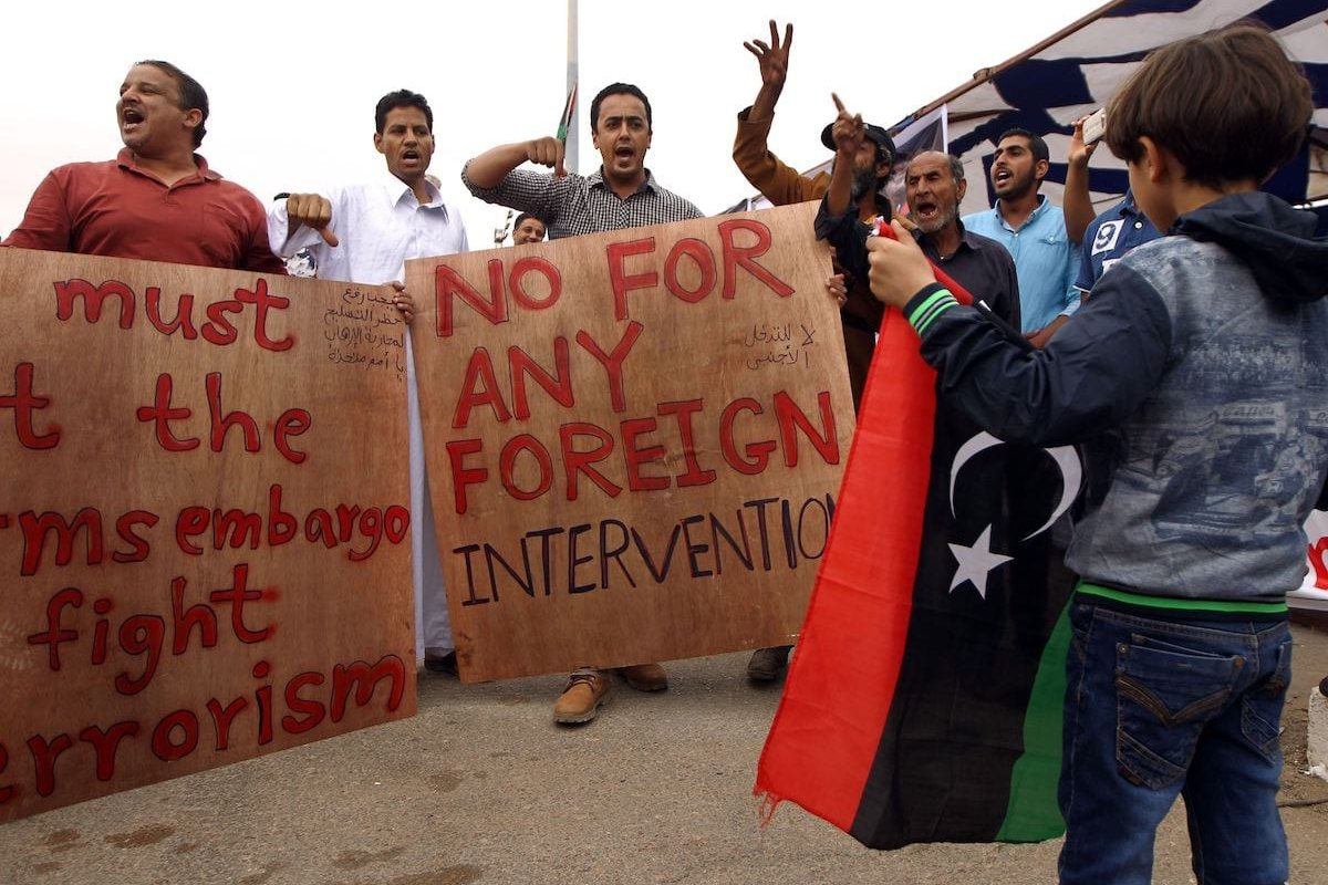 We've been here before with foreign troops in Libya