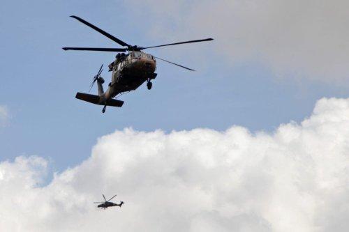 A picture taken on March 2, 2018 shows a Turkish T129 ATAK helicopter [BAKR ALKASEM/AFP via Getty Images]