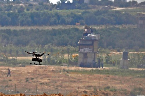 An Israeli military drone on 8 June 2018 [JACK GUEZ/AFP/Getty Images]