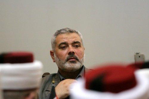 Hamas leader Ismail Haniyeh in Gaza, 26 May 2021 [ApaImages]