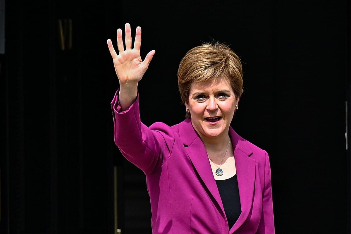 First Minister Nicola Sturgeon in Edinburgh, Scotland 9 May 2021 [Jeff J Mitchell/Getty Images]
