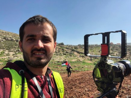 Palestinian photojournalist Mohammed Ateeq [Mohammed Ateeq]