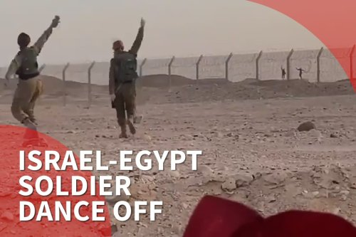 Thumbnail - Israel-Egypt soldier dance off