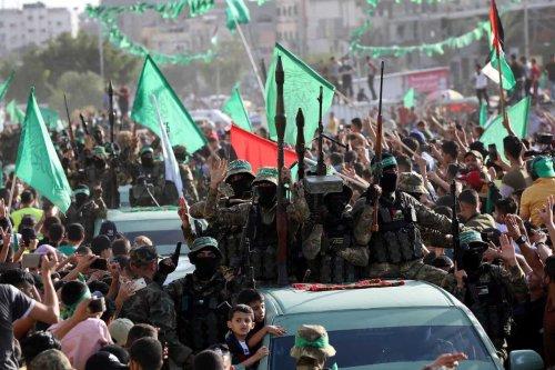 Parade of the Ezzeddin al-Qassam Brigades, the armed wing of Palestinian group Hamas, is held in Gaza City, Gaza on May 30, 2021 [Ashraf Amra / Anadolu Agency]