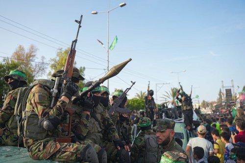 Parade of the Ezzeddin al-Qassam Brigades, the armed wing of Palestinian group Hamas, is held in Gaza City, Gaza on 30 May 2021. [Ömer Ensar - Anadolu Agency]