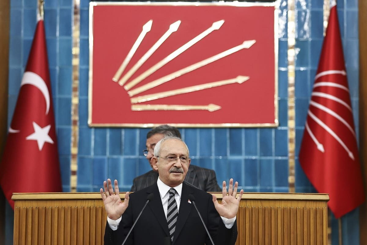 ANKARA, TURKEY - JUNE 8: Leader of the Republican People's Party (CHP) Kemal Kilicdaroglu speaks during his party's group meeting at the Turkish Grand National Assembly in Ankara, Turkey on June 8, 2021. ( Emin Sansar - Anadolu Agency )