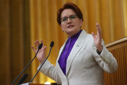 Leader of IYI Party, Meral Aksener speaks during her party's group meeting at the Turkish Grand National Assembly in Ankara, Turkey on 9 June 2021. [Evrim Aydın - Anadolu Agency]