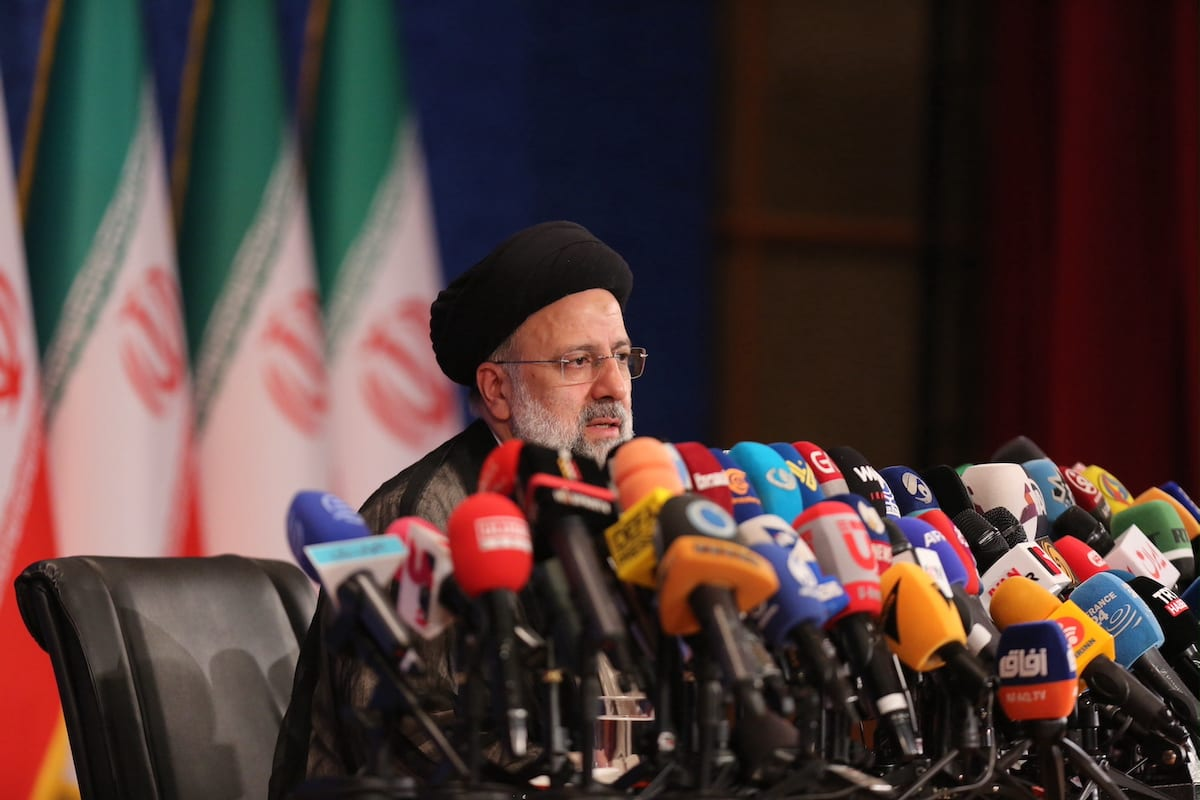 TEHRAN, IRAN - JUNE 21: Iran's new President Ebrahim Raisi speaks during his first press conference since election win in Tehran, Iran on June 21, 2021. ( Fatemeh Bahrami - Anadolu Agency )