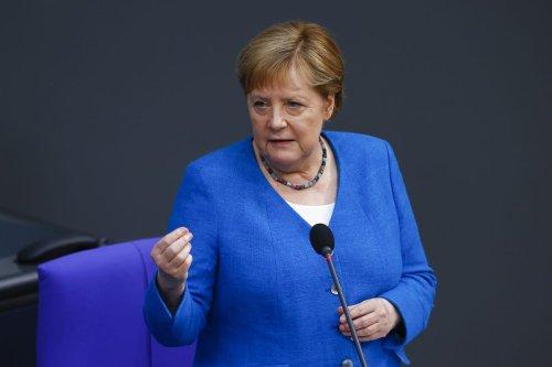 German Chancellor Angel Merkel in Berlin, Germany on 23 June 2021 [Abdulhamid Hoşbaş/Anadolu Agency]