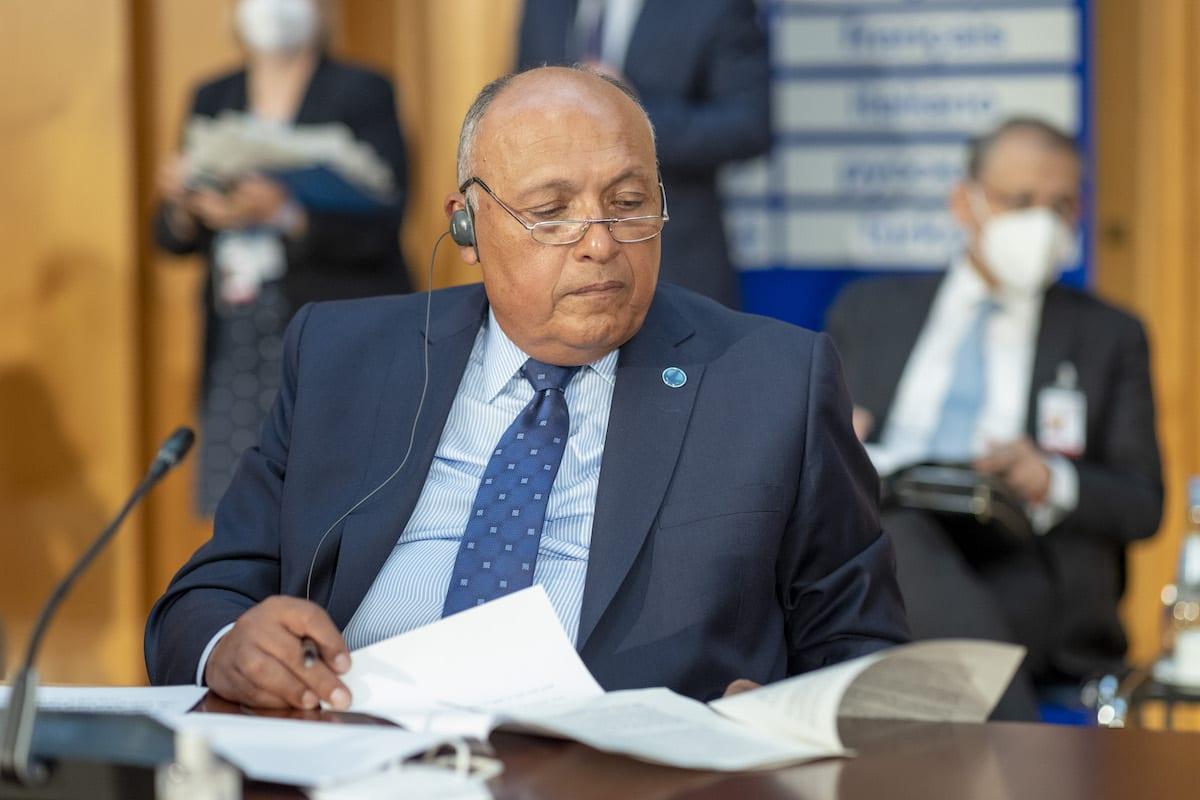 Foreign Minister of Egypt, Sameh Shoukry on June 23, 2021 [Thomas Imo/photothek.de/Pool - Anadolu Agency]