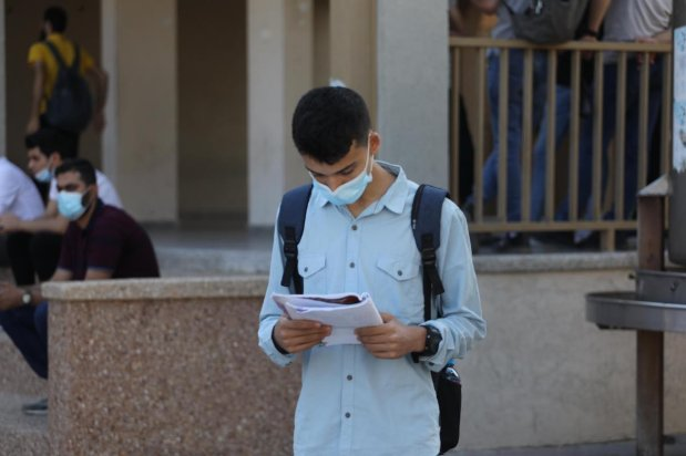 Students in Gaza seen during high school exam, in Gaza on 24 June 2021 [Mohammed Asad/Middle East Monitor]