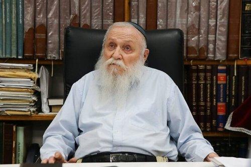 Zionist rabbi Haim Drukman [@MuammerGokcin/Twitter]