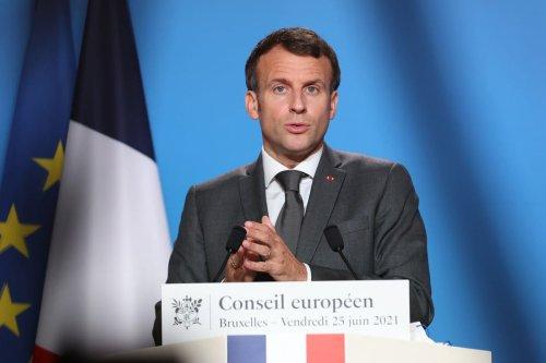 French President Emmanuel Macron in Brussels, Belgium on 25 June 2021 [Dursun Aydemir/Anadolu Agency]