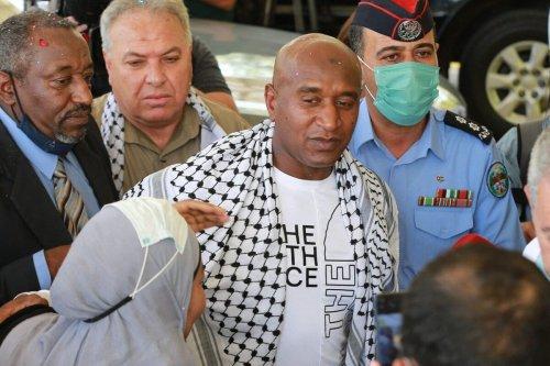 Palestinian-Jordanian Abdullah Abu Jaber, who was jailed in Israelon June 8, 2021 [KHALIL MAZRAAWI/afp/AFP via Getty Images]