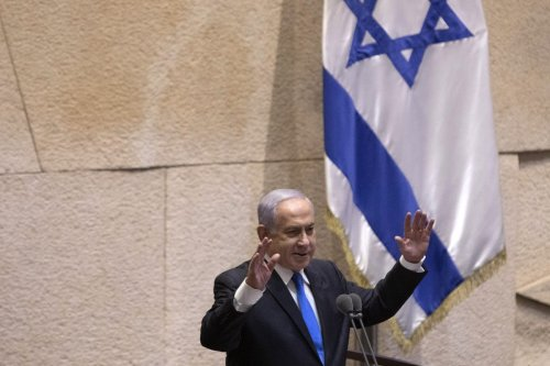 Benjamin Netanyahu, Israel's prime minister and the leader of the Likud party, speaks at the Knesset in Jerusalem, Israel, on Sunday, 13 June 2021. [Kobi Wolf/Bloomberg via Getty Images]