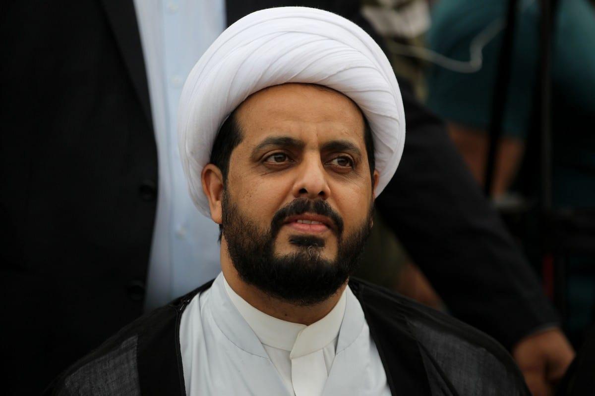 Qais Al-Khazali leader of the Asa'ib Ahl al-Haq in Baghdad, Iraq on 7 May 2018 [AHMAD AL-RUBAYE/AFP/Getty Images]