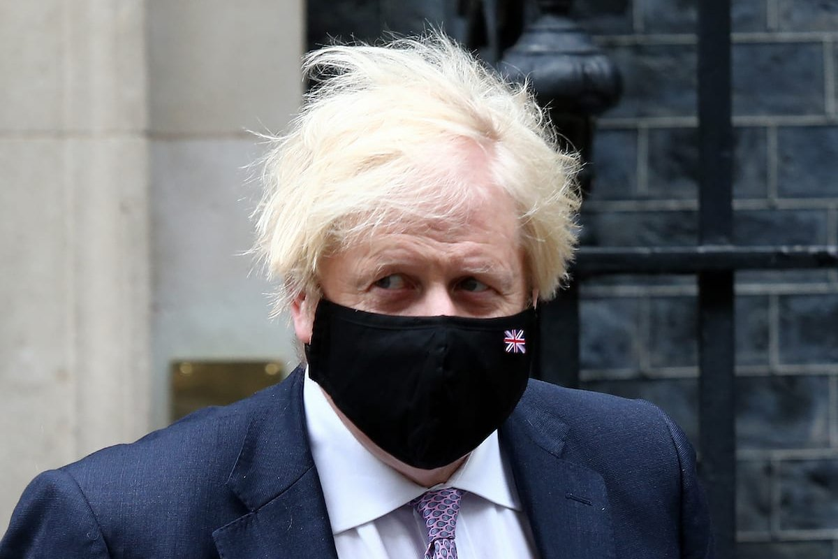LONDON / UNITED KINGDOM - JULY 7: UK Prime Minister Boris Johnson leaves 10 Downing Street ahead of weekly Prime Minister's Questions session in House of Commons in London, England on July 7 2021. ( Tayfun Salci - Anadolu Agency )