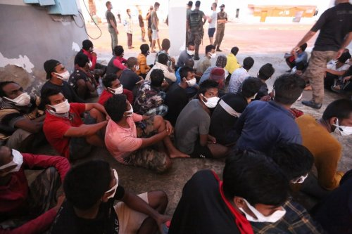 50 irregular migrants whose boats broke down off the coast of Ben Gardane city of Medenine province in the south-east of Tunisia were rescued by Tunisian Coast Guard, in Ben Gardane city, Tunisia on July 08, 2021. [Tasnim Nasri - Anadolu Agency]
