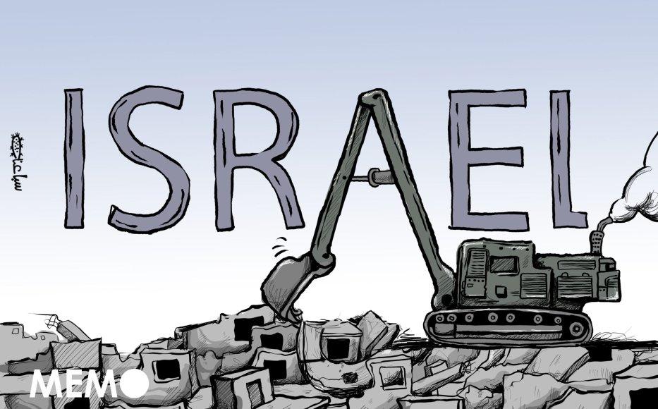 Israel continues to demolish Palestinian homes - Cartoon [Sabaaneh/MiddleEastMonitor]