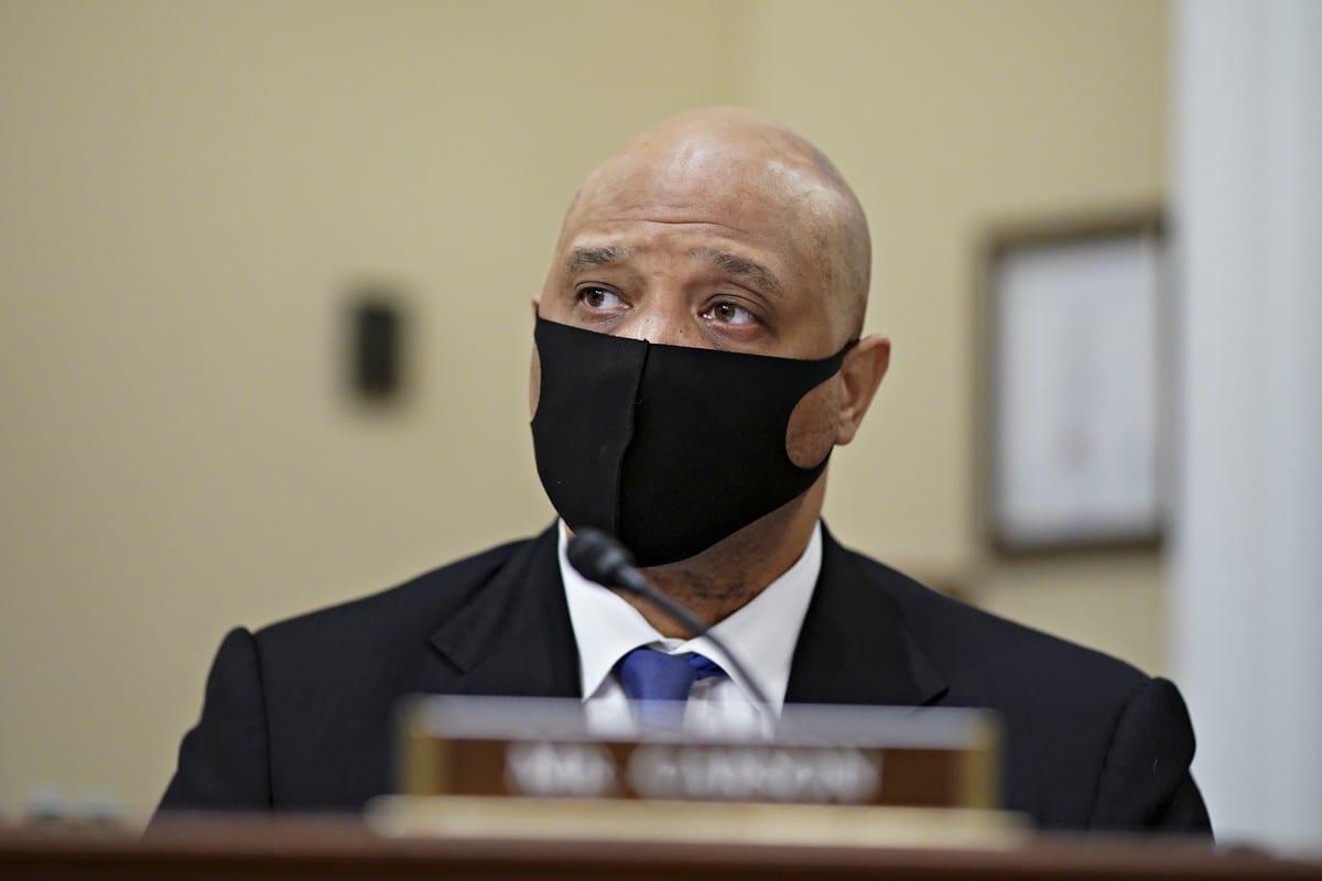US Congressman Andre Carson in Washington, D.C on 15 April 2021 [Al Drago-Pool/Getty Images]