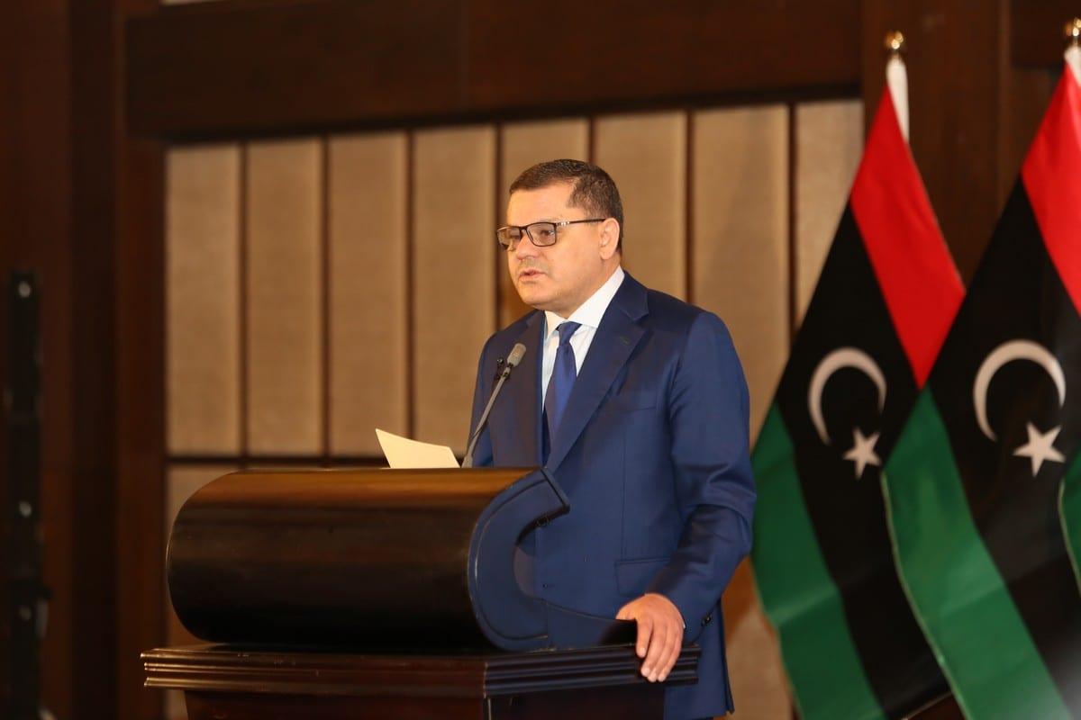Libyan Prime Minister Abdul Hamid Dbeibeh in Tripoli, Libya on 8 July 2021 [Hazem Turkia/Anadolu Agency]