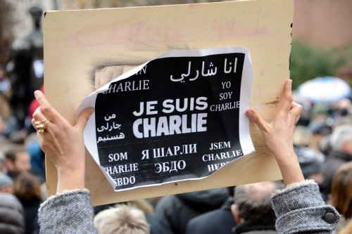 A protest in support of Charlie Hebdo in Luxembourg 8 January 2015 [Wikipedia]