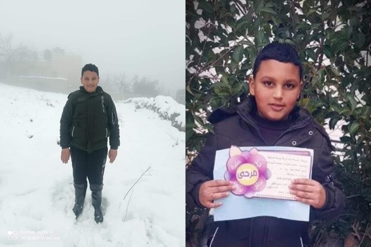 Palestinian child Mohammed Al-Allami [m7mdkurd/Twitter]