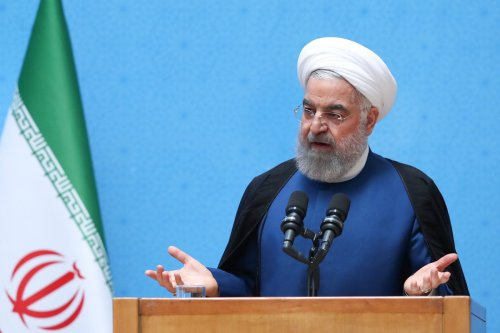 Former Iranian President Hassan Rouhani makes statements during a meeting with the directors and directors of government agencies in Tehran, Iran on August 02, 2021 [Iranian Presidency/Handout/Anadolu Agency]
