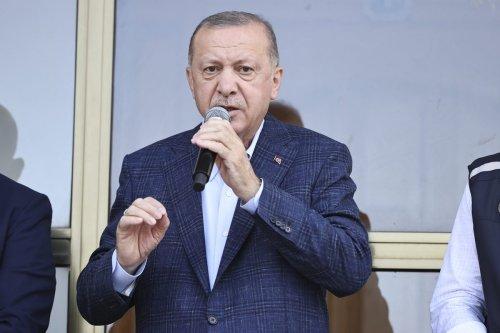 Turkish President Recep Tayyip Erdogan addresses on August 13, 2021 [Doğukan Keskinkılıç/Anadolu Agency]