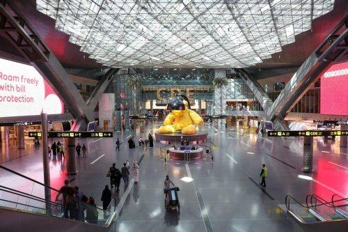 Qatar's Hamad International Airport near Doha on 11 January 2021 [KARIM JAAFAR/AFP/Getty Images]