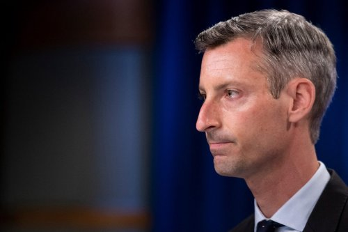 State Department spokesperson Ned Price pauses while speaking during a briefing at the State Department August 2, 2021, in Washington, DC. [BRENDAN SMIALOWSKI/AFP via Getty Images]