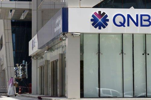 The Qatar National Bank (QNB) branch in the Saudi capital Riyadh on June 5, 2017 [FAYEZ NURELDINE/AFP via Getty Images]
