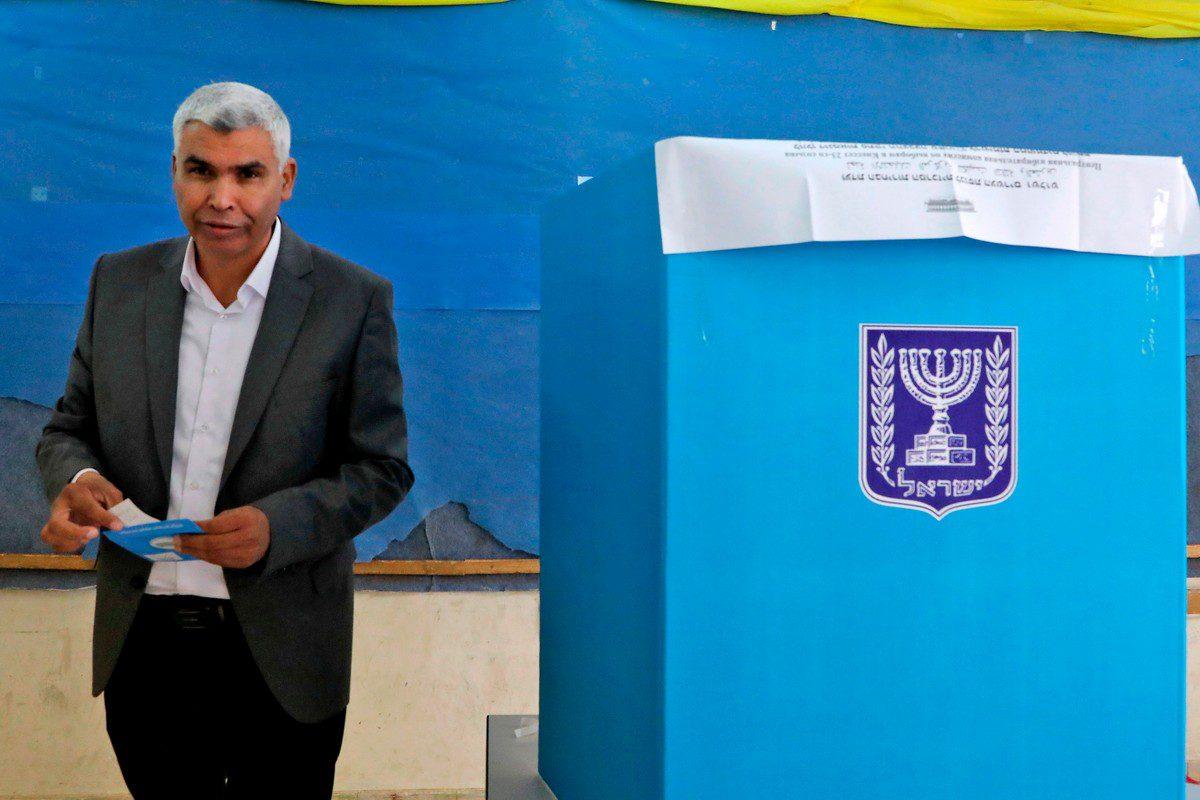 Arab Israeli lawmaker Said al-Harumi on 2 March 2020 [HAZEM BADER/AFP/Getty Images]