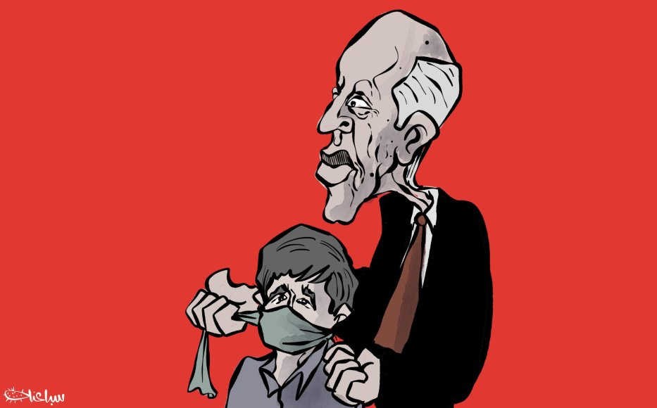Is Tunisia's state of emergency being used to restrict freedoms? - Cartoon [Sabaaneh/MiddleEastMonitor]