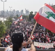 Beirut blast anniversary marked with protests