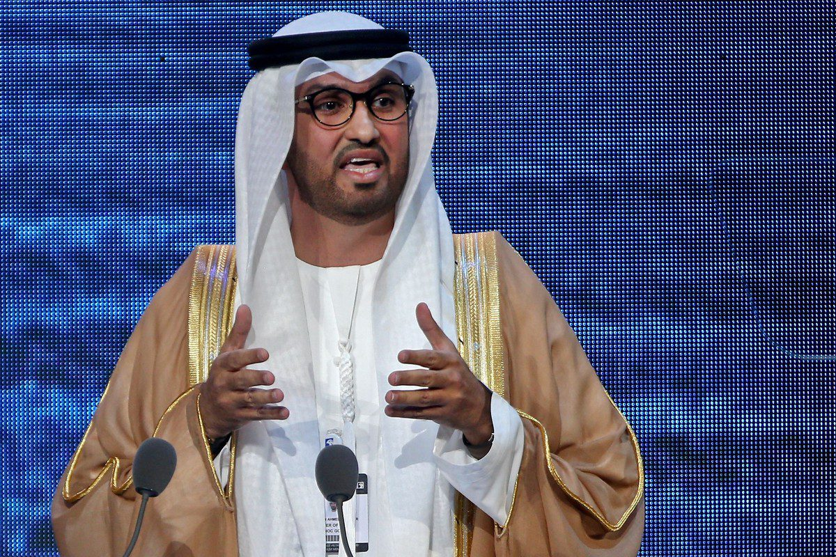 Emirati Industry and Advanced Technology Minister, Sultan Ahmed Al-Jaber in Abu Dhabi on 11 November 2019 [AFP/Getty Images]