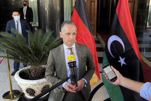 German Foreign Minister Heiko Maas in Tripoli, Libya on 9 September 2021 [Hazem Turkia/Anadolu Agency]