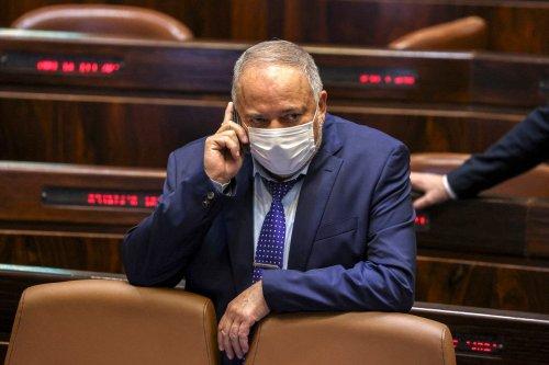 Israeli Finance Minister Avigdor Liberman on 2 September 2021 [AHMAD GHARABLI/AFP/Getty Images]