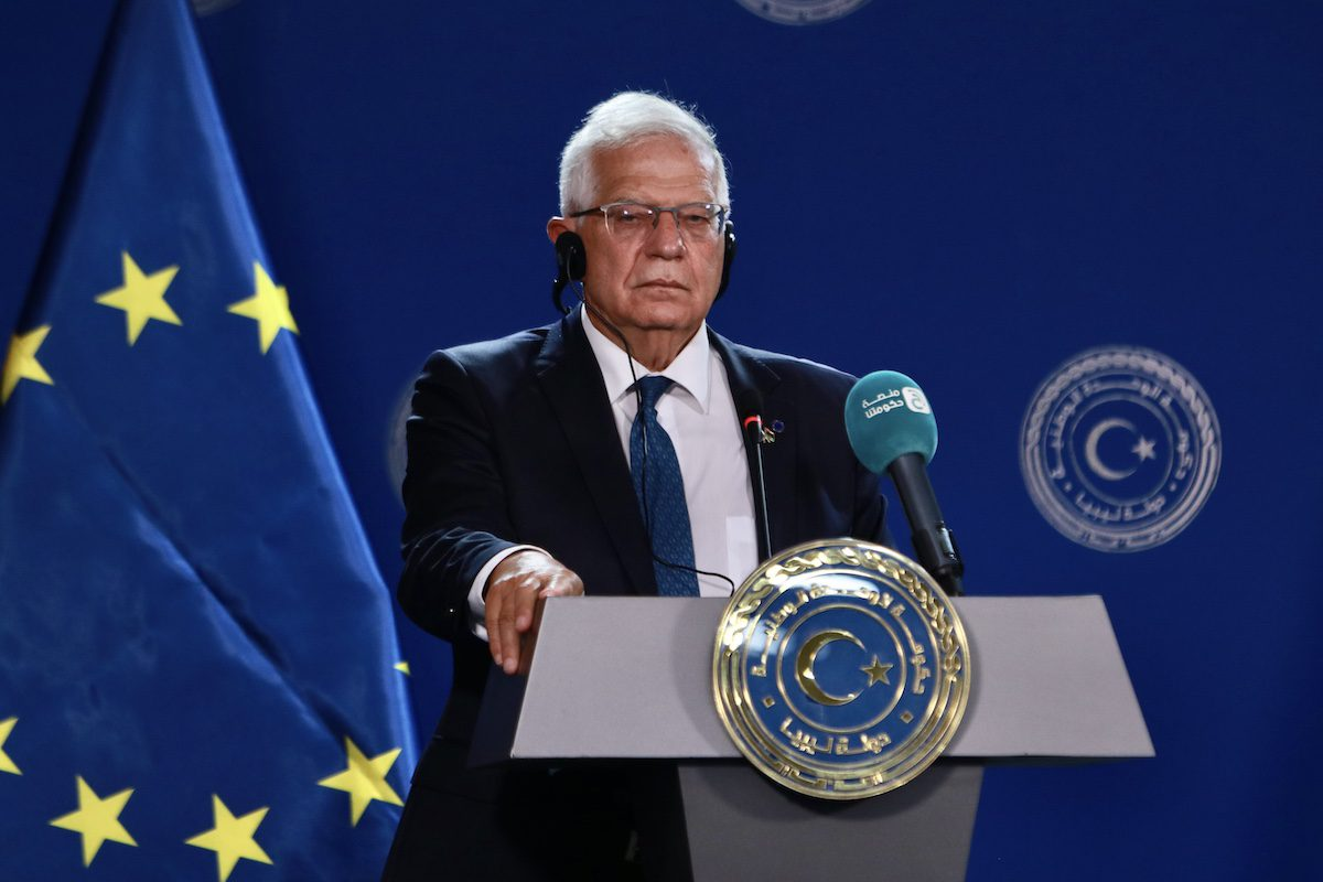 High Representative of the European Union for Foreign Affairs and Security Policy Josep Borrell in Tripoli, Libya on September 08, 2021. [Hazem Turkia - Anadolu Agency]