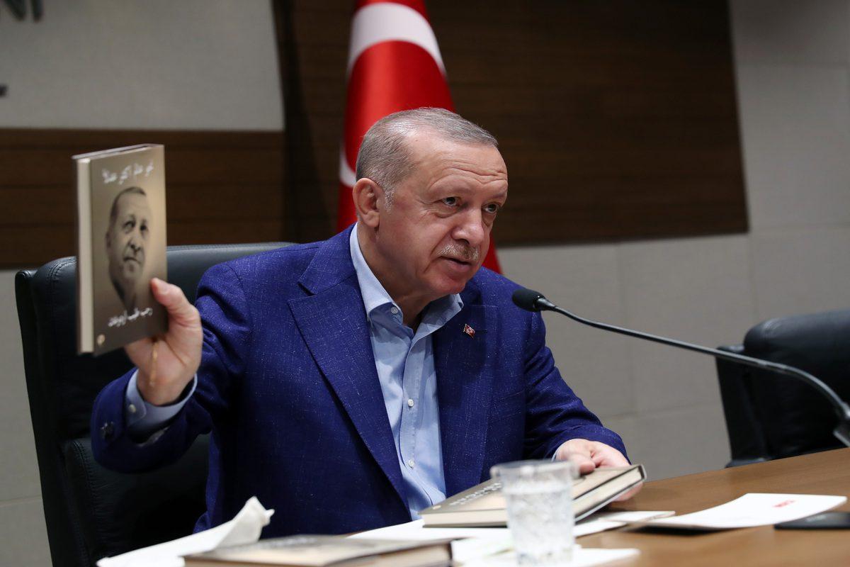 Turkish President Recep Tayyip Erdogan in Istanbul, Turkey on 19 September 2021 [TUR Presidency/Murat Cetinmuhurdar/Anadolu Agency]