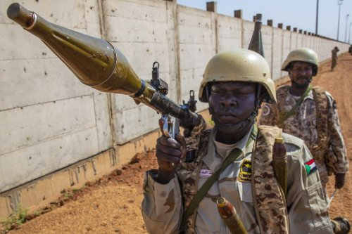 Sudan military forces in Khartoum, Sudan on 22 September 2021 [Mahmoud Hjaj/Anadolu Agency]