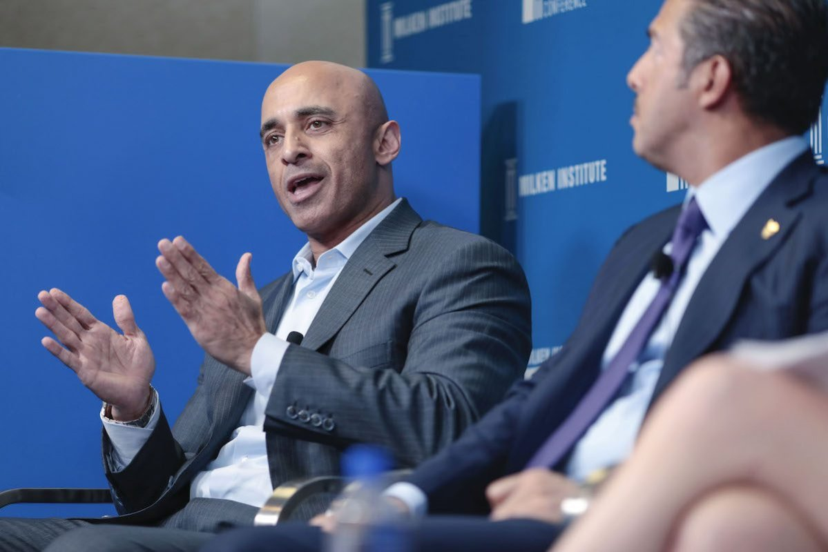 Yousef Al Otaiba, United Arab Emirates (UAE) ambassador to the U.S., speaks during the Milken Institute Global Conference in Beverly Hills, California, U.S., on Tuesday, 30 April 2019. [Kyle Grillot/Bloomberg via Getty Images]
