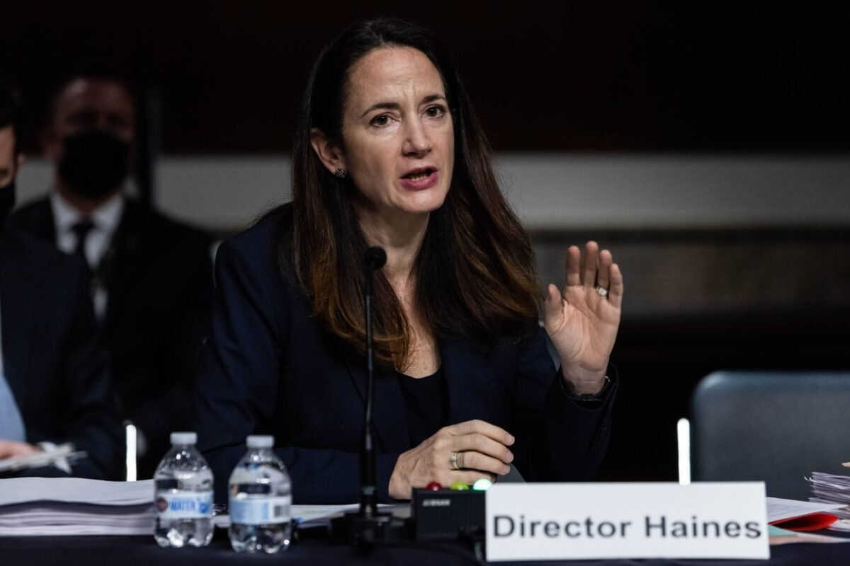 Avril Haines, director of national intelligence, speaks during a Senate Armed Services Committee hearing in Washington, DC, US on April 29, 2021 [Graeme Jennings/Washington Examiner/Bloomberg via Getty Images]
